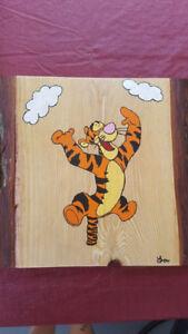 Décoration personnalisée sur bois