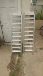 Quad/Snowmobile solid steel ramps for half ton.