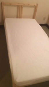 Bed Frame+mattress+book shelf+table MOVING OUT SALE!!!