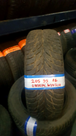 205 55 16 UNIROYAL WINTER TYRES X4 £120 INC FIT AND BAL OPN 7 DAYS