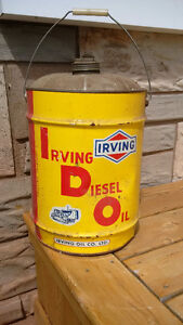 Vintage Irving Oil Company Diesel Oil Can