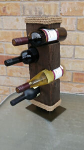 Rustic Barn Board Wine Racks