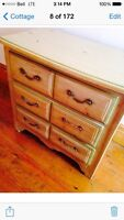2 matching dressers - solid wood