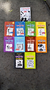 Mint condition diary of a wimpy kid hardcover set