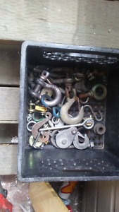 Misc. Hooks, pulleys, cable clamps
