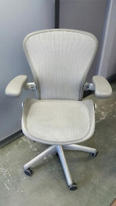 Herman Miller Aeron Chairs Size B - Silver - Excellent Condition