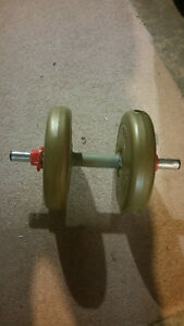 Exercise Bench with Assorted Weighs+Set of Dumbells Windsor Region Ontario image 2