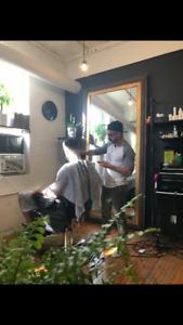 Barber in training sks models.