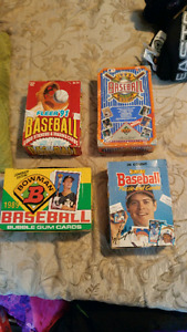 Late 80's early 90's baseball card boxes