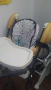 Baby high chair/swing, rocking chair, and tub