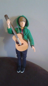 Justin bieber doll and teddy bear backpack / new never used