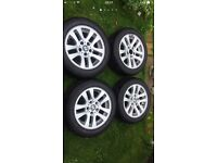 Bmw 3 series alloy wheels with runflats,2 new tyres.Bargain!!!