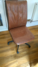 Leather Desk/Computer chair