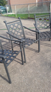 ALUMINUM OUTDOOR PATIO CHAIRS (REDUCED PRICE)