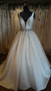 Ivory Ballgown Wedding Dress + Matching Cathedral Veil