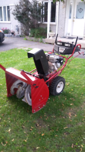8hp White Outdoor Snowblower