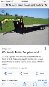 Looking for a flat deck gooseneck trailer