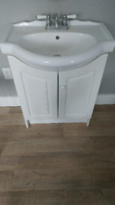 Small Vanity with Faucet