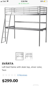NEW - IKEA loft bed with desk