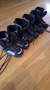 3 pairs of Snowboarding boots Gatineau Ottawa / Gatineau Area image 1