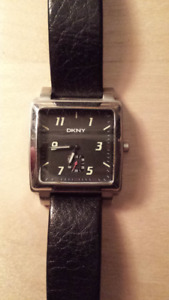 DKNY WATCH - BLACK - SQUARE FACE -  REQUIRES BATTERY