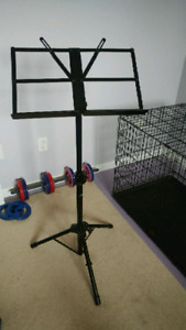 Collapsible Music Stand w/case