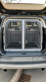 Track trans dog cage