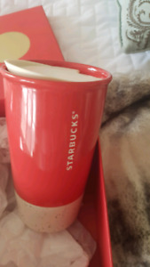 STARBUCKS CUP AND ORNAMENT IN BOX.