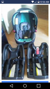 Car seat with 2 bases