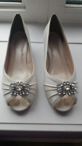 Bridal Wedding Shoes - Worn Once!