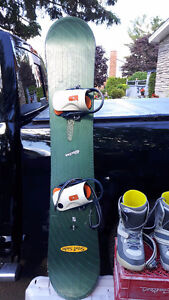 Snow board plus boots and bindings
