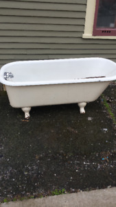 TWO CLAW FOOT BATHTUBS FOR SALE