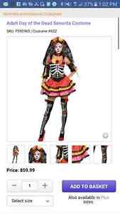 Day of the dead ladies Costume XL