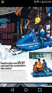 1972 sno jet ssjet with a 396 yamaha twin only made for two year