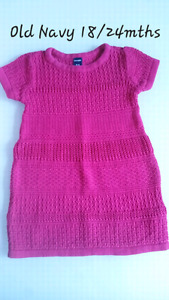 Old Navy Girl's Pink Dress 18/24mths