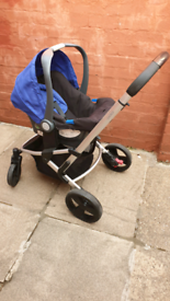 Mothercare Xpedior Pram and Pushchair Travel System (Blue & Black)