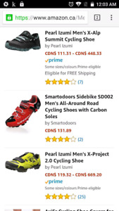 Brand new size 10.5 mens Exustar Pearl Izumi cycling shoes
