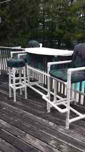 Poolside patio furniture
