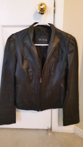 Women's Guess leather jacket in excellent condition .