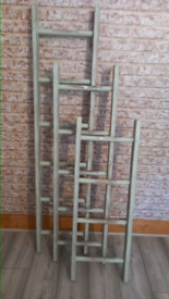 Upcycled vintage shabby ladders