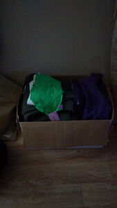 Huge box of name brand small medium clothing some with tags