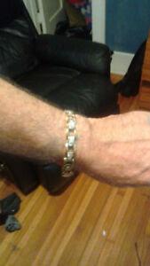 Mans 14K Bracelet with Diamonds