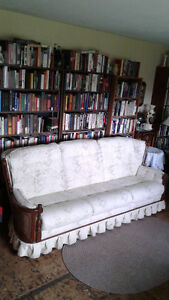 CHESTERFIELD, SWIVEL \ ROCKER CHAIR, AND COFFEE TABLE. SKLAR-PEP