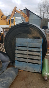 Conveyor Belt, Head and Tail Pulleys, Troughing Idlers