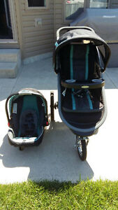 Graco Jogger Stroller with Car Seat