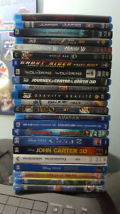 3D BLURAY DVD COMBO MOVIES FOR SALE