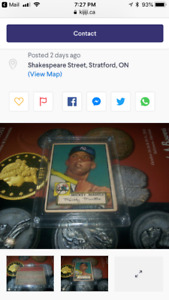*Alert* Fake 1952 Mickey Mantle being sold as real!!!