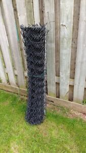 Vinyl coated wire fence 36' x 4' Black