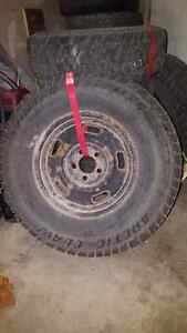 Winter studs tires with rims P235/75R15