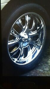 20 inch chrome rims and tires Ford bolt pattern